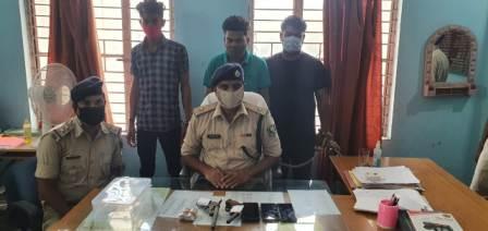 Nagar Sho Ara- Three arrested with weapon bullets