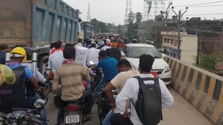 Traffic mahajam from Ara Zero Mile to Overbridge