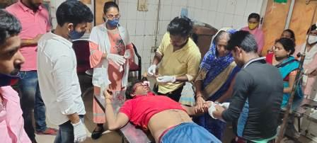 Rakesh Sharma Mistry injured by Scorpio in Gausganj Ara