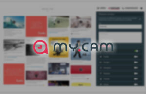 my.cam allows you to create a professional website in minutes