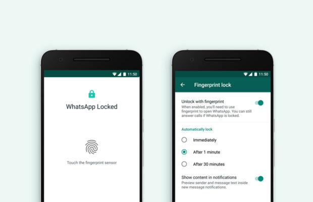 whatsapp's fingerprint lock feature is now available on android