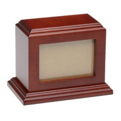 3 x 5 Birch Wood Photo Frame Pet Urn – B011-SM - Cherry – 50 cu. in.