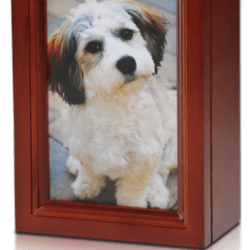 4 x 6 Birch Wood Photo Frame Pet Urn in Cherry – B014-Cherry – 45 cu. in.
