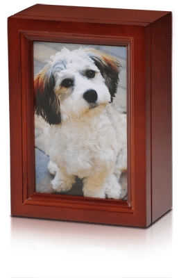 4 x 6 Birch Wood Photo Frame Pet Urn in Cherry – B014-Cherry – 45 cu. in.