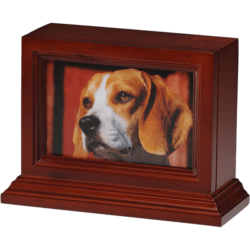 4 x 6 Wooden Photo Frame Pet Urn with Base in Cherry – B013-Cherry – 45 cu. in.