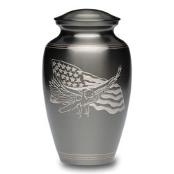 American Eagle and Flag Brass Urn – Adult – B-1919-A