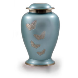 Avondale Brass Urn with Butterflies – Adult – B-1608-A