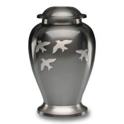 Avondale Urn with Birds in Flight in Beautiful Slate – Adult – B-1610-A