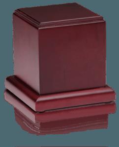 Birch Wood Cube Cremation Urn with Cherry Finish – Medium – HB-106-CHERRY