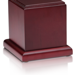 Birch Wood Cube Cremation Urn with Cherry Finish – Small - HB-105-CHERRY