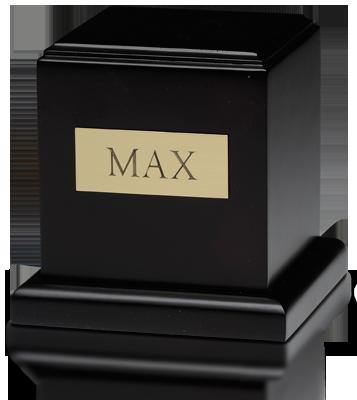 Birch Wood Cube Cremation Urn with Mahogany Finish – Medium – HB-106-Mahogany