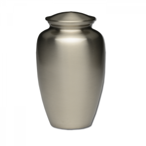 Classic Brass Cremation Urn in Pewter Finish – Adult – B-1511-A-P