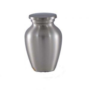 Classic Brass Cremation Urn in Pewter Finish – Keepsake – B-1511-K-P