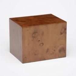 Elegant Burl and Cherry Wood Urn – A097 – 260 cu. in.