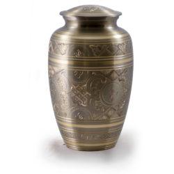 Platinum & Golden Brass Cremation Urn – Adult – B-1575-A
