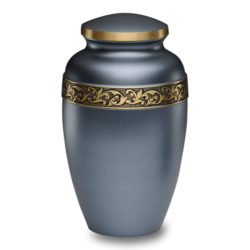 Silver-Gray Brass Cremation Urn – Adult – B-1618-A