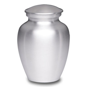 Affordable Alloy Cremation Urn Silver Color – Medium – AU-CLB-M