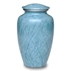 Affordable Alloy Cremation Urn in Beautiful Blue – Adult – A-1411-A