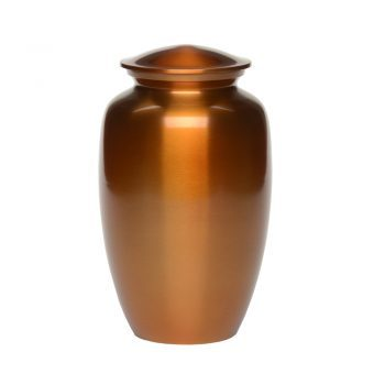 Affordable Alloy Cremation Urn in Beautiful Copper Orange – Adult A-2297-A
