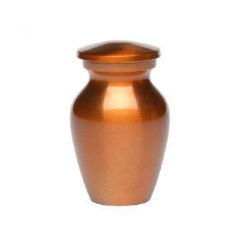 Affordable Alloy Cremation Urn in Beautiful Copper Orange – Keepsake A-2297-K-NB