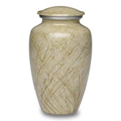 Affordable Alloy Cremation Urn in Beautiful Ivory – Adult – A-1412-A