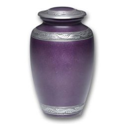 Affordable Alloy Cremation Urn in Beautiful Purple – Adult – A-1489-A-PUR