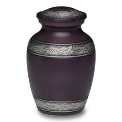 Affordable Alloy Cremation Urn in Beautiful Purple – Small – A-1489-S-PUR