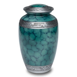 Affordable Alloy Cremation Urn in Green – Adult – A-2319-A