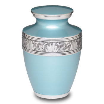 Affordable Alloy Cremation Urn in Teal – Adult – A-2250-A