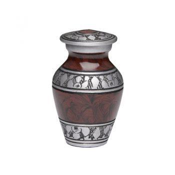 Alloy Urn – Espresso Brown – Keepsake NO BOX- A-3250-K-NB