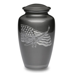 American Eagle and Flag Alloy Urn – Adult – A-1919-A