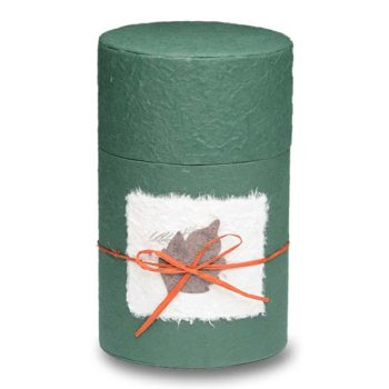 Biodegradable Peaceful Return Urn in Oval Shape – Green – Medium - 1040-OVAL-GREEN-M