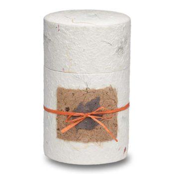 Biodegradable Peaceful Return Urn in Oval Shape – Natural White – Medium - 1040-OVAL-NATURAL-M