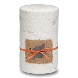 Biodegradable Peaceful Return Urn in Oval Shape – Natural White – Small - 1020-OVAL-NATURAL-S