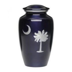 Classic Alloy Cremation Urn South Carolina Palmetto Tree & Crescent Moon – A-1926-A