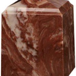 Cube Cultured Marble Urn Espresso Brown - Small - CM-CUBE-ESPRESSO-BROWN-S