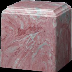 Cube Cultured Marble Urn Mauve - Small - CM-CUBE-MAUVE-S