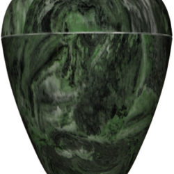 Georgian Cultured Marble Urn Dark Green - Adult - CM-G-DARK-GREEN-A