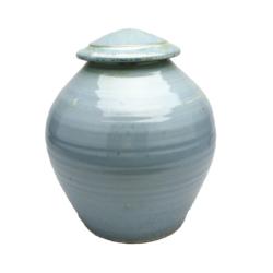 Handmade-Stoneware-Urn-Crystal-Silver-Blue-Kent-Harris-KH-EC-URN-5