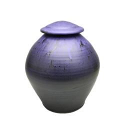 Handmade-Stoneware-Urn-Matte-Purple-Kent-Harris-KH-PRB-URN-1