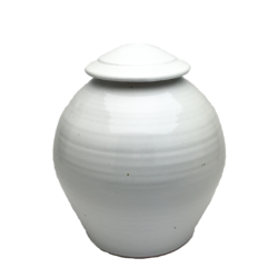 Handmade-Stoneware-Urn-Opaque-White-Kent-Harris-KH-W-URN-1