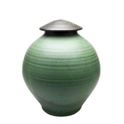 Handmade-Stoneware-Urn-Satin-Copper-Green-Kent-Harris-KH-RZG-URN-4