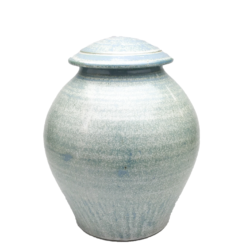 Handmade-Stoneware-Urn-Silver-Blue-Kent-Harris-KH-EC-URN-1