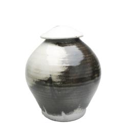 Handmade-Stoneware-Urn-Smoky-Gray-Black-Haze-Kent-Harris-KH-SH-URN-2