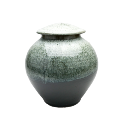 Handmade-Stoneware-Urn-Waterfall-Green-Kent-Harris-KH-WF-URN-1