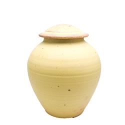 Handmade-Stoneware-Urn-Yellow-Rust-Kent-Harris-KH-MDY-URN-2