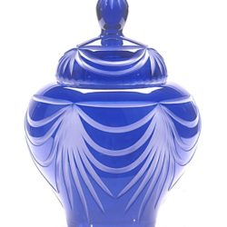 Lead Cobalt Blue Lead Crystal Urn Majestic Angel – Medium – U-02B-60