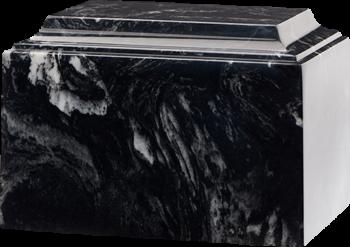 Tuscany Cultured Marble Urn Black Marlin - Adult - CM-T-BLACK-MARLIN-A