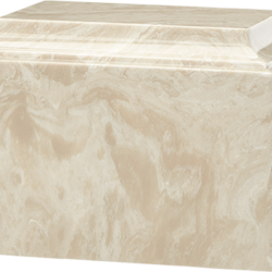 Tuscany Cultured Marble Urn Cream Mocha - Adult - CM-T-CREAM-MOCHA-A