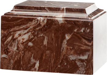 Tuscany Cultured Marble Urn Espresso Brown - Adult - CM-T-ESPRESSO-BROWN-A